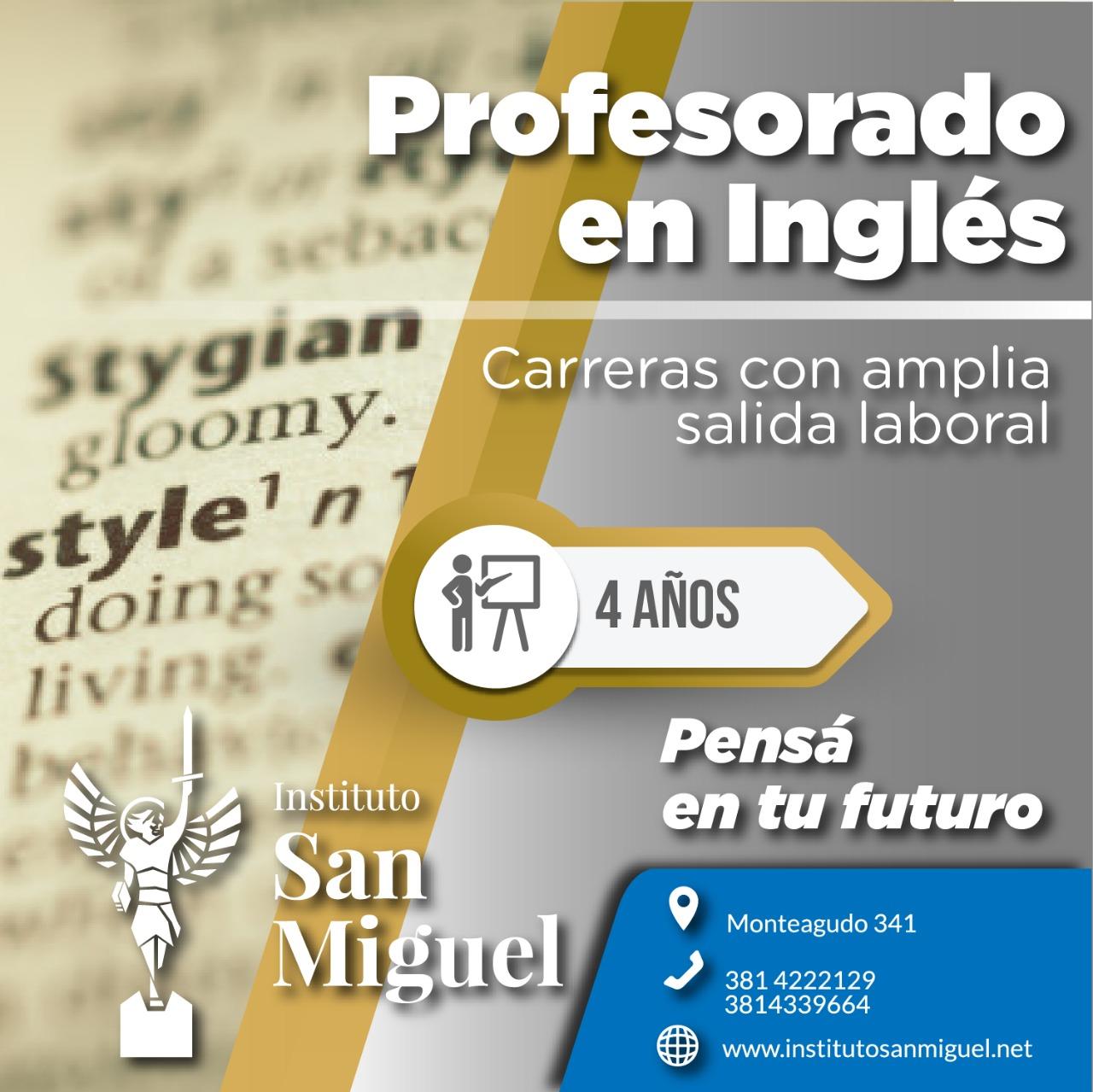 Profesorado en ingles