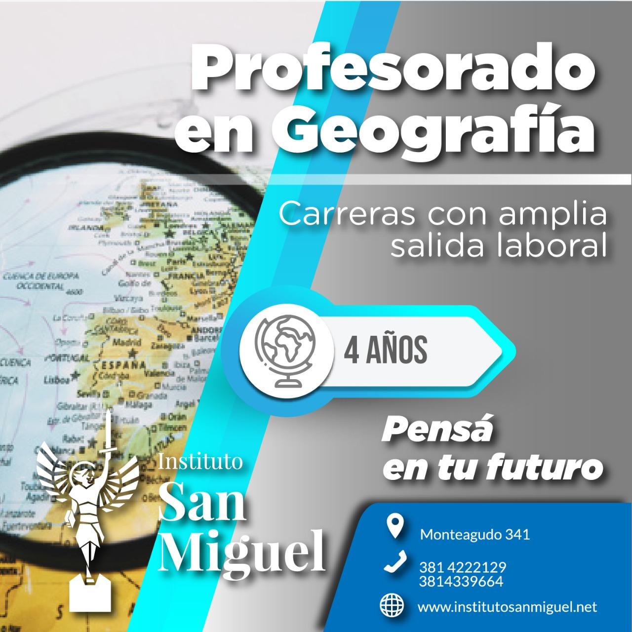 Profesorado en geografía